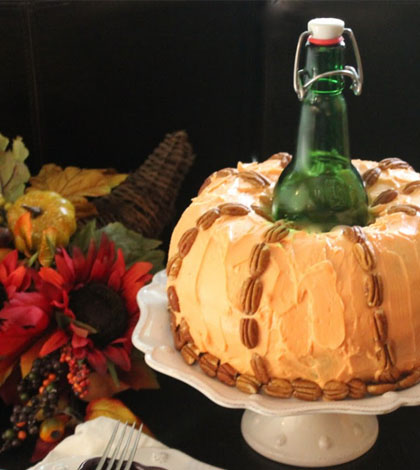 Pumpkin Beer Cake with Cream Cheese Icing Recipe