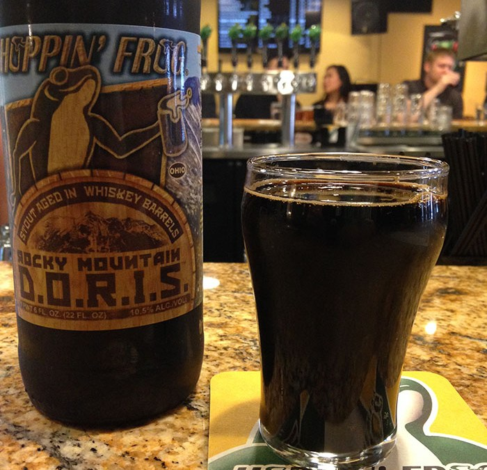 Hoppin' Frog: Rocky Mountain D.O.R.I.S  Stout aged in Whiskey Barrels