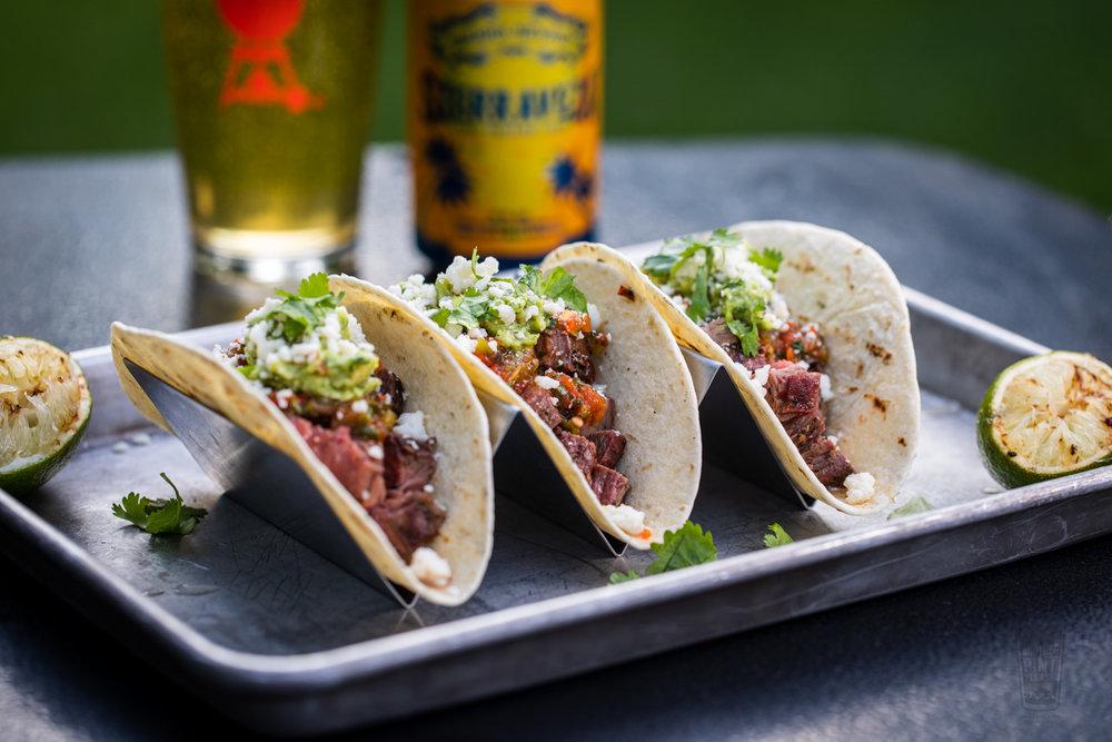 Grilled Flank Steak Tacos on the Weber Performer