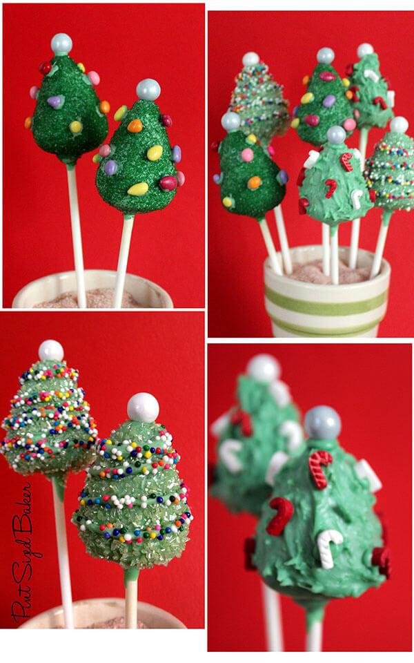 How To Make Christmas Tree Cake Pops Pint Sized Baker