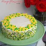 Adding Drop Flowers To A Cake Pint Sized Baker