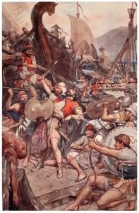 The Persian admiral dies at Salamis