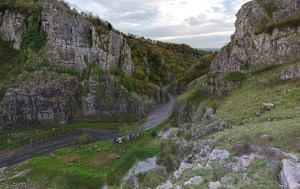 Cheddar Gorge, where Cheddar Man lay in a cave for 9,000 years