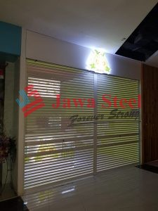 Rolling door perforated avocado lovers di east coast mall, pakuwon city 2