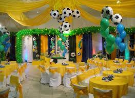 Decoração de Festa Infantil com tema da Copa