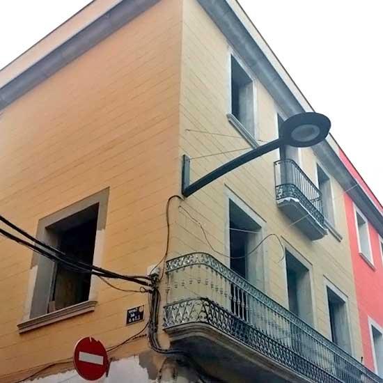 edificio con fachada restaurada