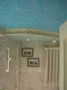 Estuco Veneciano Color Azul baño 1