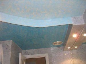 Estuco Veneciano Color Azul baño 5
