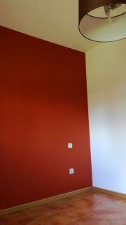 Esmalte al agua color teja en dormitorio 3