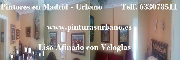 Banner Pagina Pilar Plastico Liso con Veloglas en Piso de Madrid