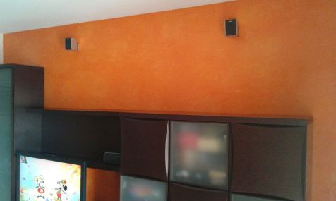 Estuco Veneciano Veteado Color Naranja (8)