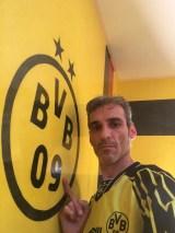 Estuco Veneciano Original a rayas amarillas y negras Borussia Dortmund (54)