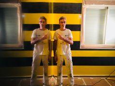 Estuco Veneciano Original a rayas amarillas y negras Borussia Dortmund (74)
