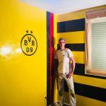 Estuco Veneciano Original a rayas amarillas y negras Borussia Dortmund (75)