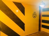 Estuco Veneciano Original a rayas amarillas y negras Borussia Dortmund (90)