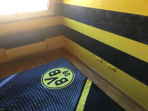 Estuco Veneciano Original a rayas amarillas y negras Borussia Dortmund Decoracion (19)