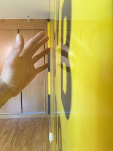 Estuco Veneciano Original a rayas amarillas y negras Borussia Dortmund - Terminado dia (29)