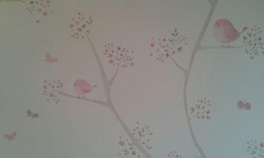 Papel Pintado Pajaros y arboles (2)
