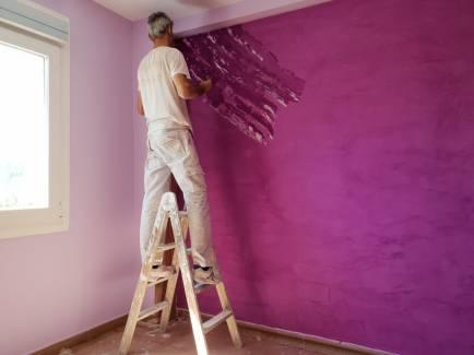 Aplicando Estuco Marmoleado Violeta (2)
