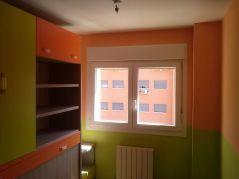 Habitacion Infantil Plastico Sideral Naranja y Esmalte Valacryl color verde con mueble (11)