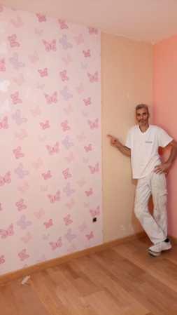 Plastico Rosa y Papel Pintado Mariposas (8)