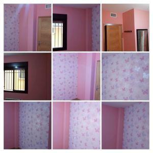 Plastico Rosa y Papel Pintado Mariposas -COLLAGE