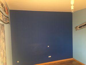 Estado de la Habitacion Paredes en plastico azul y esmalte azul oscuro (2)