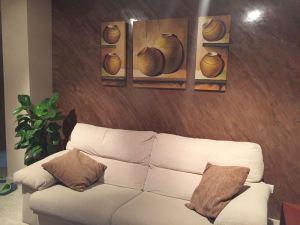 Estuco Marmoleado a 2 colores Maroon y Chocolate con decoracion (2)