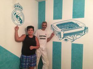 Estuco Veneciano Real Madrid con vinilos terminado (noche) (26)
