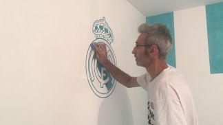 Instalando Vinilos Real Madrid (2)