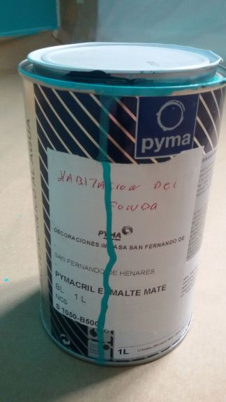 Esmalte pymacril color turquesa mate S-1050-B50G