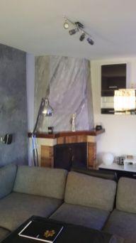 estuco marmoleado a 3 colores en chimenea con cera alex - Decoracion (1)