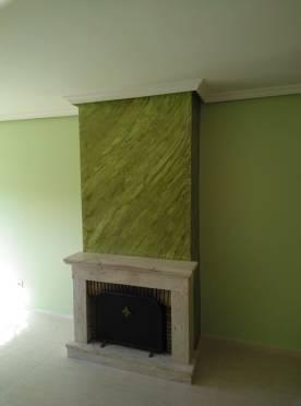Estuco Marmoleado a 2 colores Verde claro y oscuro (10)