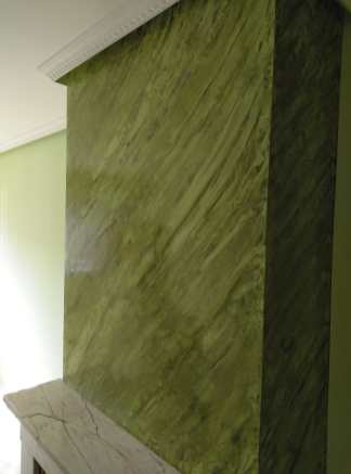 Estuco Marmoleado a 2 colores Verde claro y oscuro (3)