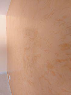 Estuco Veneciano Espatuleado con Vetado Color Naranja (1)