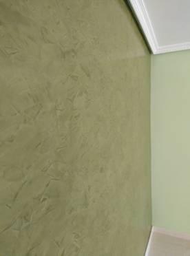 Estuco Veneciano Espatuleado con Veteado color Verde (10)