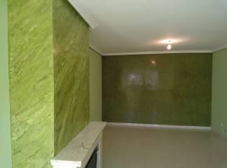 Estuco Veneciano Espatuleado con Veteado color Verde (8)