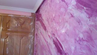 Estuco Marmol a 3 colores Violeta con cera (11)