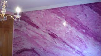 Estuco Marmol a 3 colores Violeta con cera (21)