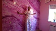 Estuco Marmol a 3 colores Violeta con cera (28)