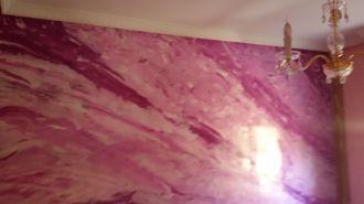 Estuco Marmol a 3 colores Violeta con cera (5)