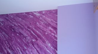 Estuco Marmoleado Violeta y Esmalte Valacryl Malva (4)