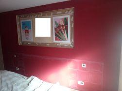 Dormitorio Antes Rojo y Crema (3)