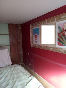 Dormitorio Antes Rojo y Crema (4)
