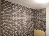 Habitacion Papel pintado labrillo y plastico sideral color gris (4)