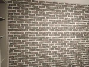 Habitacion Papel pintado labrillo y plastico sideral color gris (6)