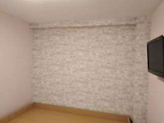 Habitacion Papel pintado labrillo y plastico sideral color rosa (2)