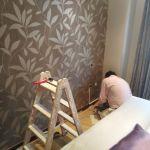 Dormitorio Papel pintado gris y plata (1)