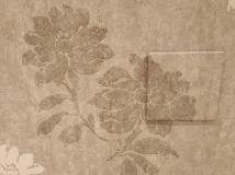 Papel flores tono marron - oro (4)