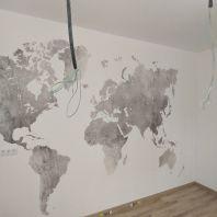 Colocacion de papel pintado mapa mundial (1)